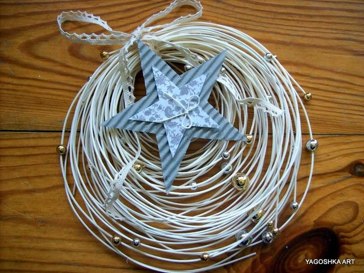Biały stroik, wieniec (diy home decor)