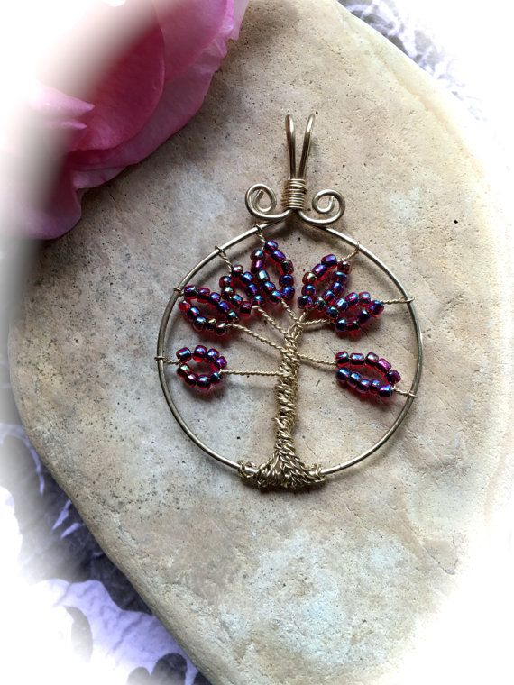 RASPBERRY TREE Of LIFE Pendant Holiday by WhimsicalMystical