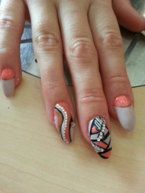 All different nail art, by marie