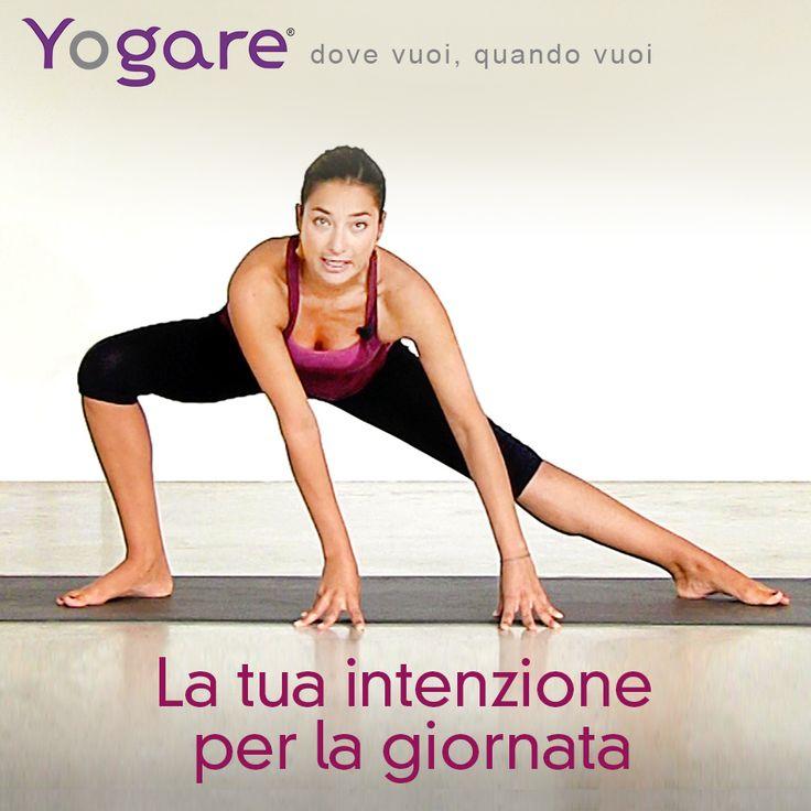 Pratica e intenzione all'inizio della giornata con Anna Inferrera su http://yogare.eu/video-161