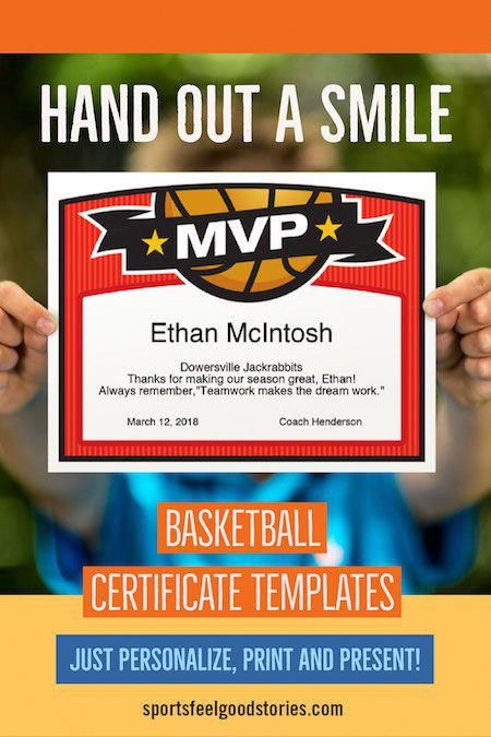 basketball award certificate templates | boys and girls teams ...