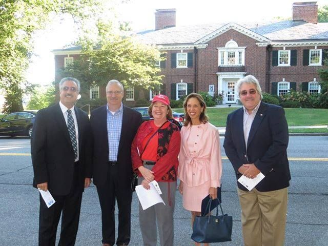 At Eastchester Town Hall was with Steve Ecklond and Amy Paulin at Village of Bronxville.