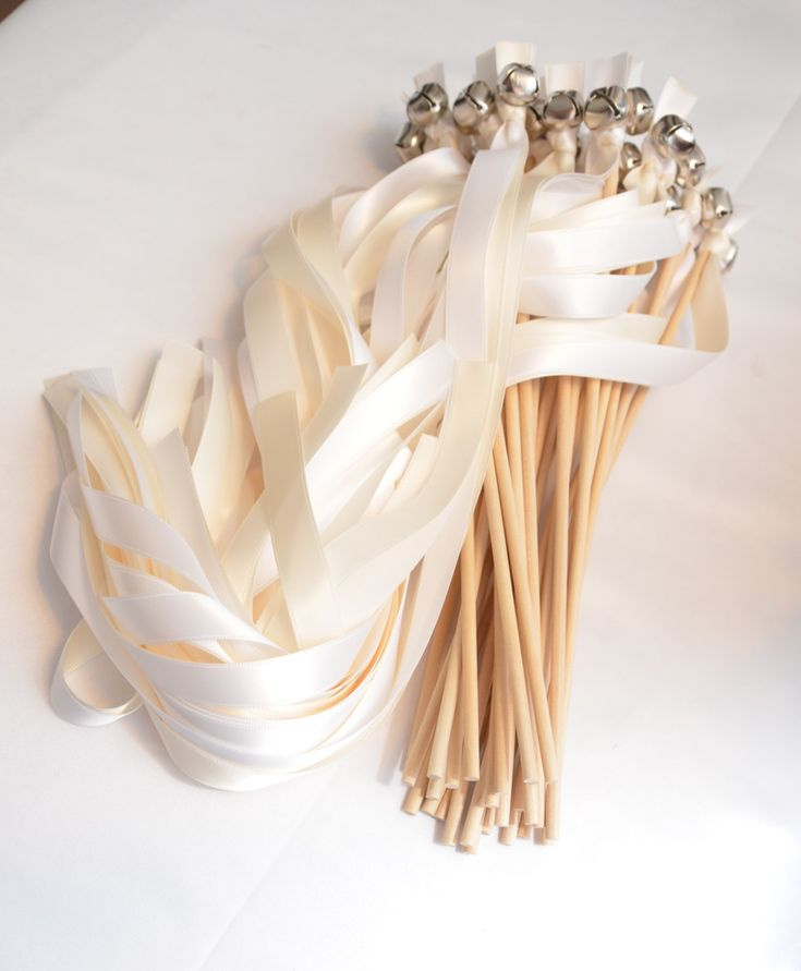 100 Ribbon Bell Wands ~ Divinity Braid ~ Party ~  Kissing Bells ~ Weddinggn Favors ~  Send off Bells ~ Wedding Wands by DivinityBraid on Etsy