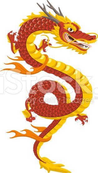 Dragon chinois traditionnel de la Culture cliparts vectoriels libres de droits