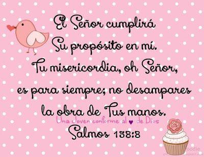 α JESUS NUESTRO SALVADOR Ω: El Señor cumplirá su propósito en mí, tu…