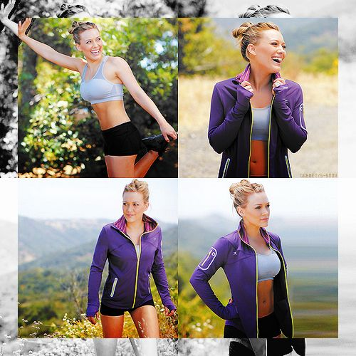 #fit shots #Hilary duff  journey to a happier life