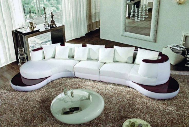 105 WHITE LEATHER SECTIONAL SOFA MODERN CONTEMPORARY NEW #Modern