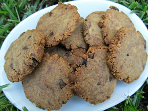 (wheat and gluten-free) peanut butter carob chip cookies dog treat/biscuit recipe