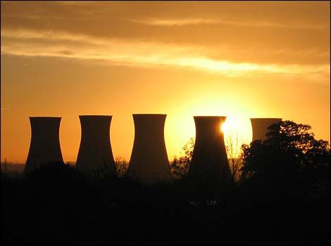 WILLINGTON POWER STATION AT SUNSET *a*