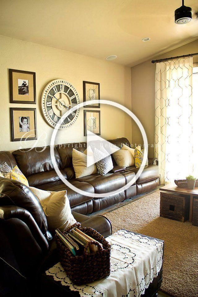 brown furniture living room decor family friendly