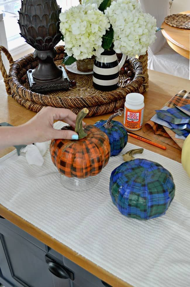 Mini Pumpkin Craft With Dollar Store Pumpkins