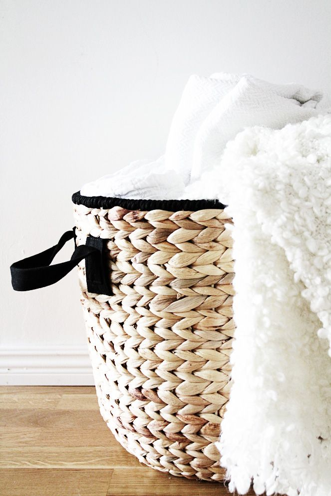 IKEA basket - Also visually beautiful SWEDISH blog with clean, classic Scandinavian design.