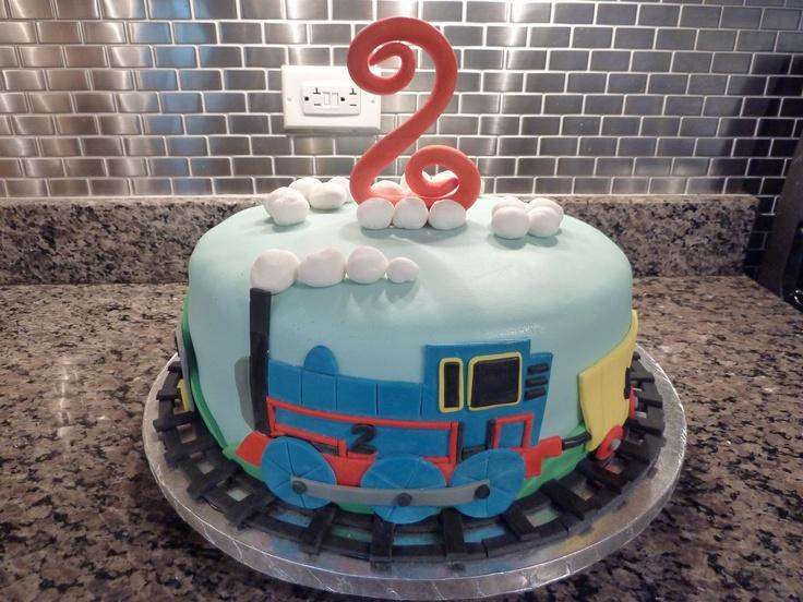 Thomas Themed Birthday Cake