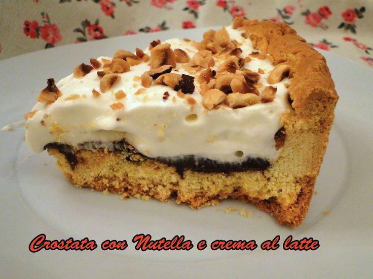 Crostata ripiena di Nutella e crema al latte – tipo Kinder