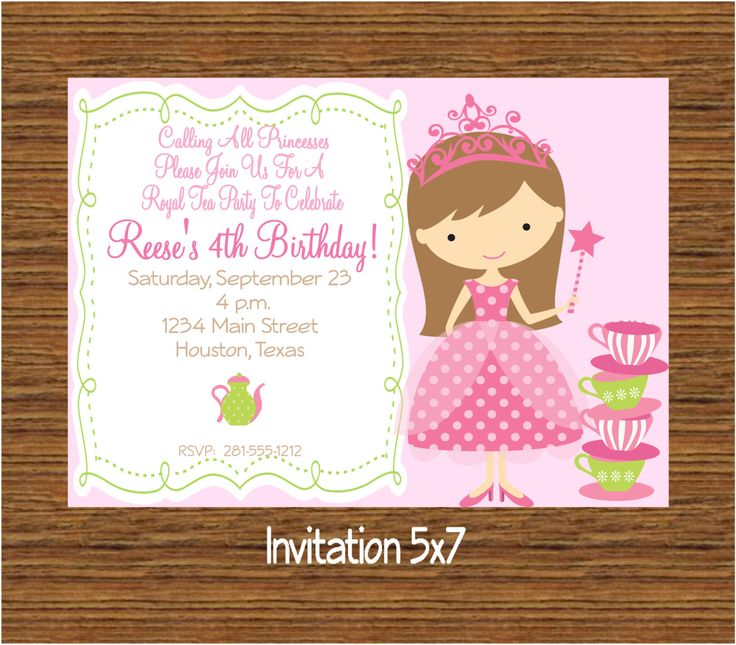 8 best tea party invitations for kids birthday images on pinterest, Party invitations