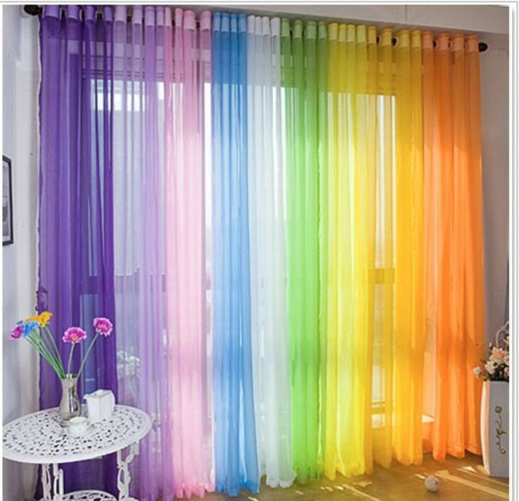 VOILE SHEER CURTAIN CUSTOMISE BEDROOM WINDOW HOME DIY CHILDREN KIDS ROOM DRAPE in Home & Garden, Curtains & Blinds, Curtains | eBay