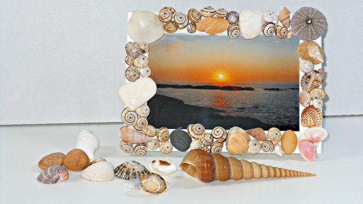 Cómo decorar un marco de fotos con conchitas de playa | Mundo@Party