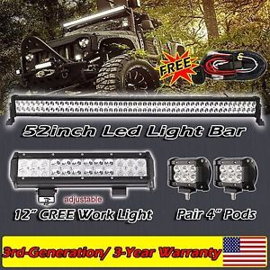 19 best yamaha rhino images on pinterest yamaha rhinoceros and rhinos 52inch led light bar 12 4 cree work suv offroad jeep truck fandeluxe Image collections