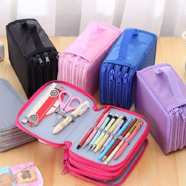estojo escolar quatro camadas  rosa, roxo, rosa claro azul, preto, cinza. site ai em baixo otimo presente de natal e para o ano de 2017