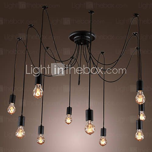 [EUR € 115.48] lustres artistiques avec des ampoules feux de la conception 10