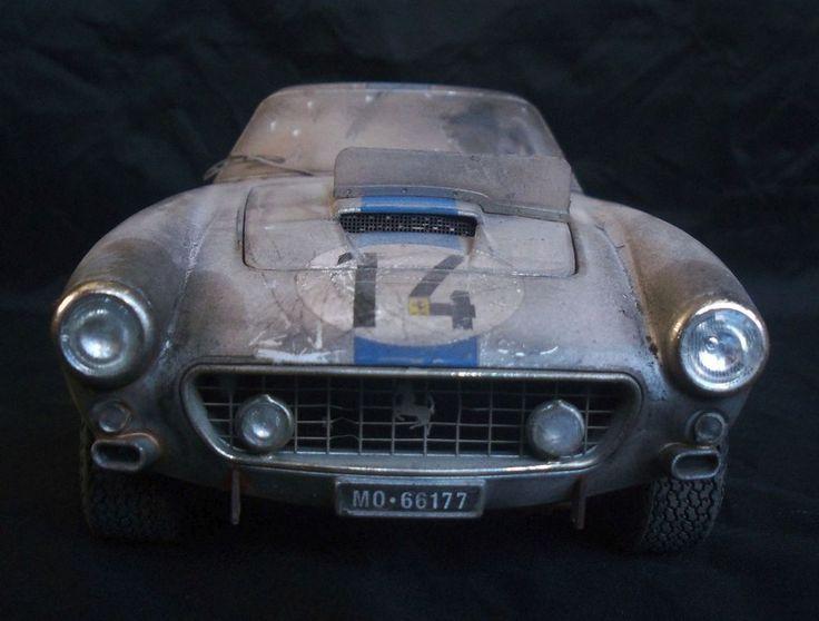 Ferrari 250 GT Racing Barn Find Custom Weathered Unrestored Hot Wheels 1 18 HotWheels
