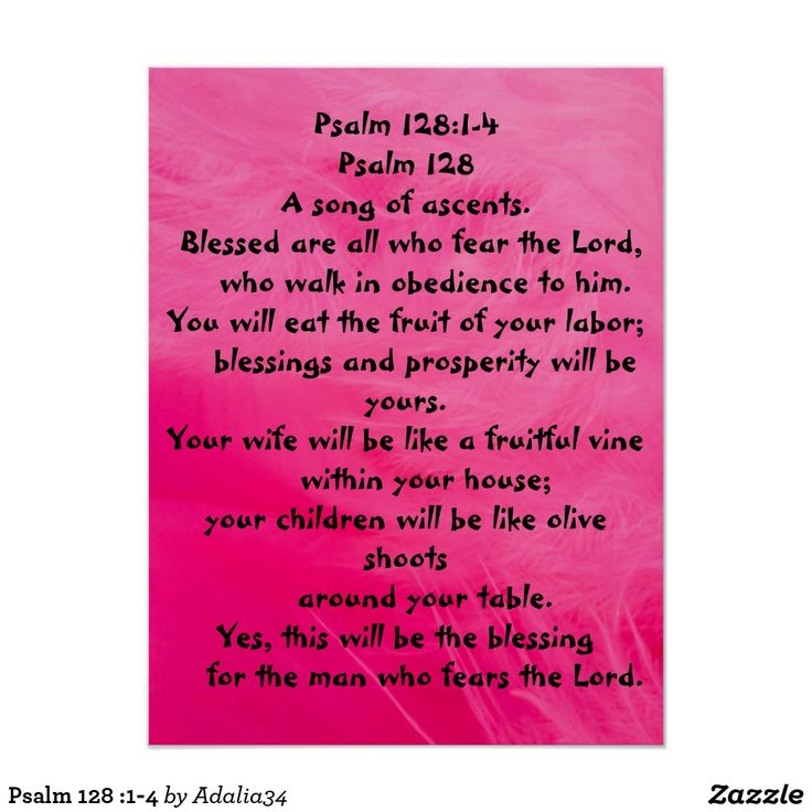 Psalm 128 :1-4 poster