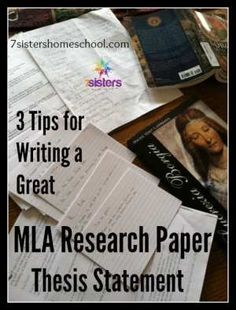 Writing a powerful MLA research paper thesis statement is the key to confidence for overwhelmed teen writers. Practical tips from 20+year homeschool moms.