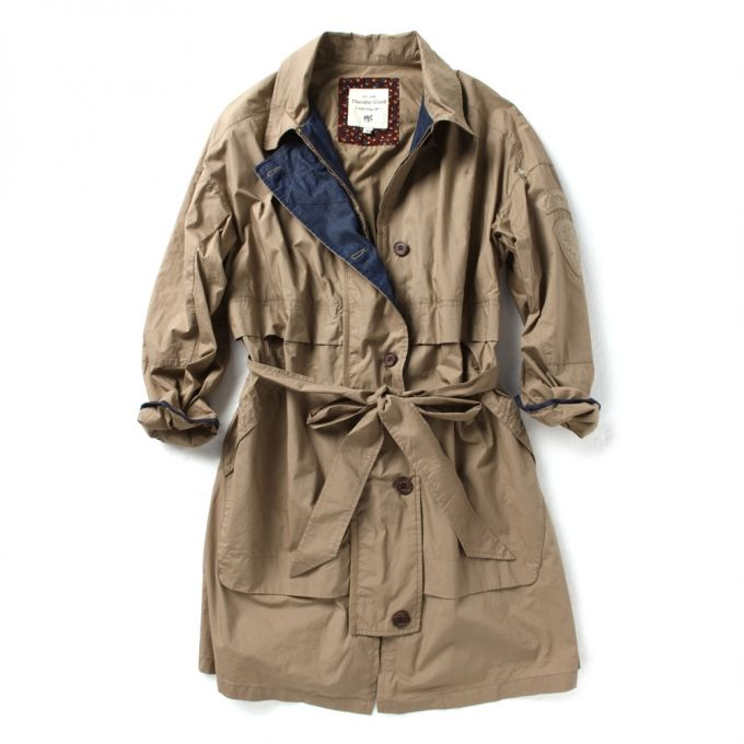 Hooded jacket Long length Trench coat style  Pintuck detailed back Waist belt (made with same fabric)  Up to 40% Sale now!