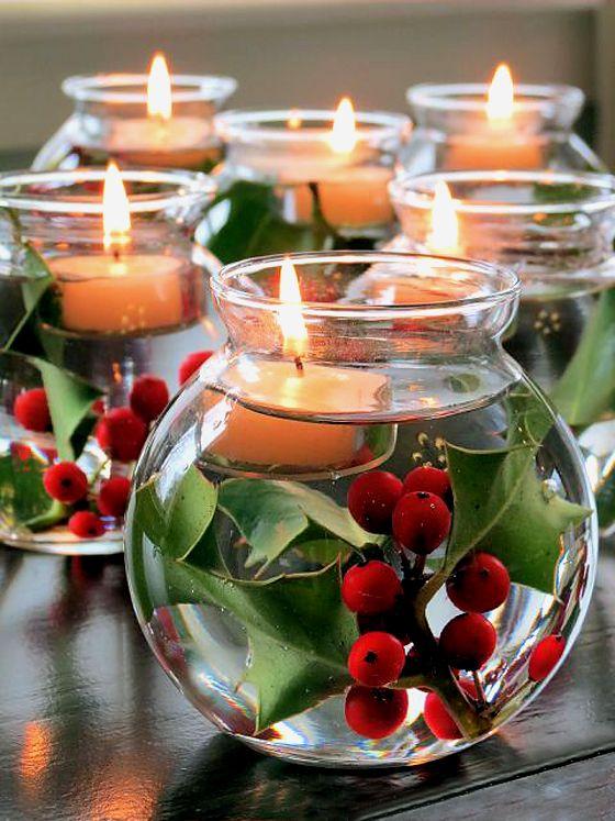 Noël / Bougies / Décoration.