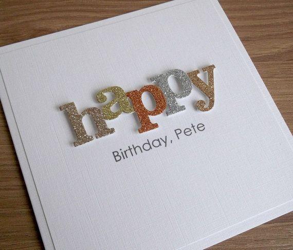 Handmade Personalised Birthday Card Dad Grandad Son Brother