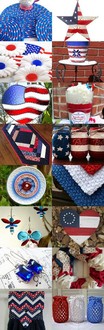 Lovely Memorial Day Etsy Treasury with unique handmade gifts.... Enjoy Patriotism everyday by Pam Sullivan on Etsy--Pinned+with+TreasuryPin.com