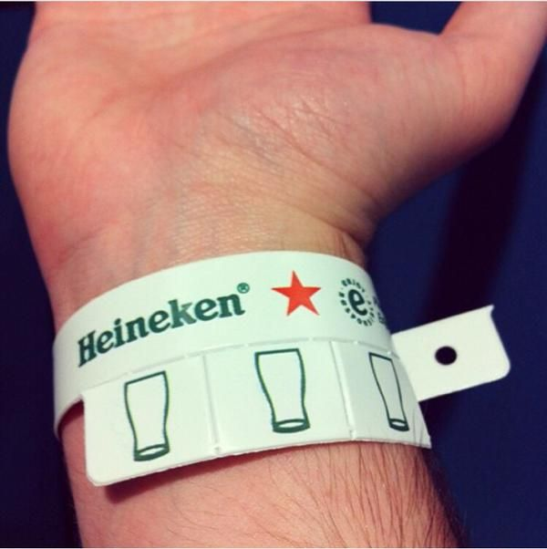 Heineken found a great way to keep track of their audience's beer intake while retaining their enthusiasm for the event.