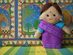 Felt Indian Doll
