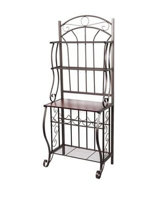 45% OFF Old Dutch International Baker's Rack with Wine Rack (Copper)