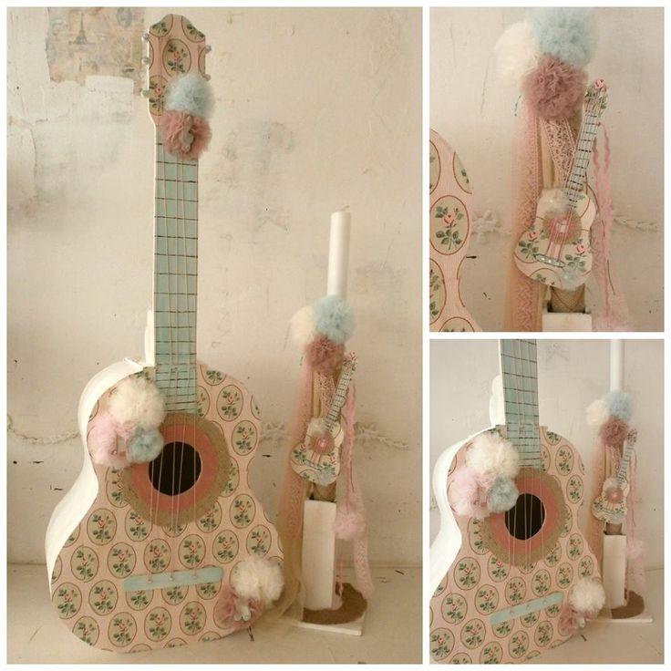 Βαπτιστικό σετ κιθάρα σε ρομαντικόσ τυλ για κορίτσι  TO ΣΕΤ ΠΕΡΙΛΑΜΒΑΝΕΙ:   Κουτί κιθάρα Διαστάσεις: 50Χ20Χ112 εκ ΛΑΜΠΑΔΑ ΣΕΤ ΛΑΔΟΠΑΝΑ ελληνικής ραφής (2 ΠΕΤΣΕΤΕΣ, ΣΕΝΤΟΝΙ, ΣΕΤ ΕΣΩΡΟΥΧΑ - ΚΑΠΕΛΑΚΙ) / Επιλέξτε το χρώμα της αρεσκίας σας από την επιλογή