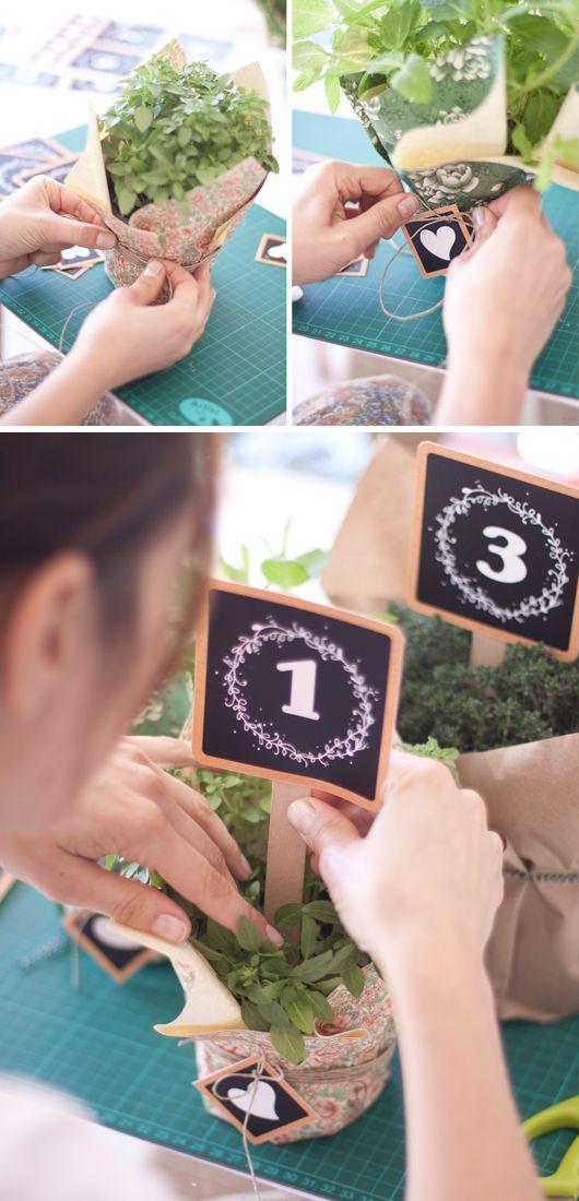 Do it yourself números para mesas · Diseño exclusivo de Project Party Studio para Tendencias de Bodas Magazine
