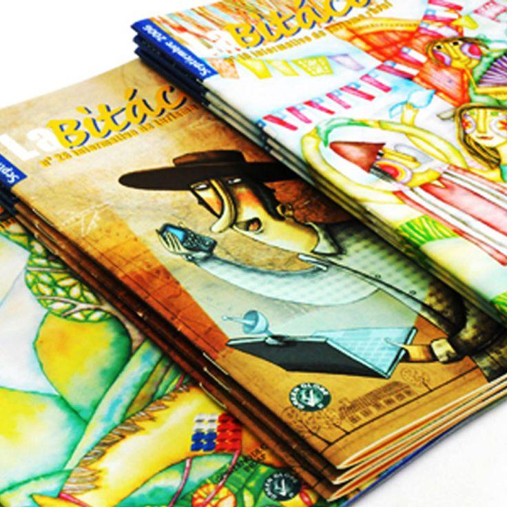 Diseño y diagramación revista Bitacora. Cliente: INDAP. 2008-2012