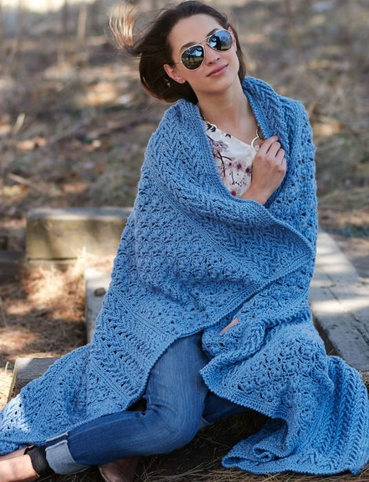Mary Maxim - Free Texture Panels Afghan Pattern - Free Patterns