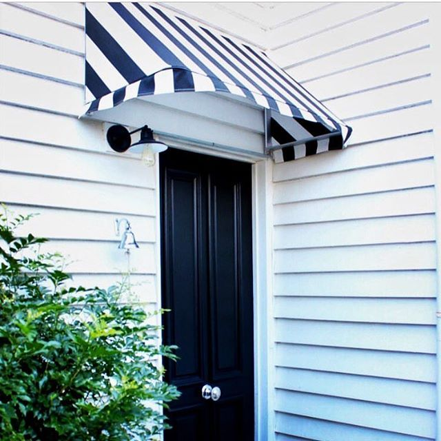 Repost of @diydecorator 's #hamptonsstyle mini backdoor makeover. Our centre door knob and ships bell looking the part alongside a gloss black door and striped canopy. Awesome work! ~~~~~~~~~~~~~~~~~~~~~~~~~~~~~~~~~~~~~~~~~~ Download our brochure at www.tradco.com.au | Call 08 8362 1133 or email sales@tradco.com.au for wholesale and stockist enquiries