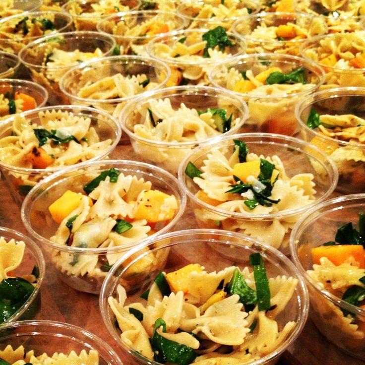 Visual Catering Menu Fall Pasta Salad Cups Whole Grain