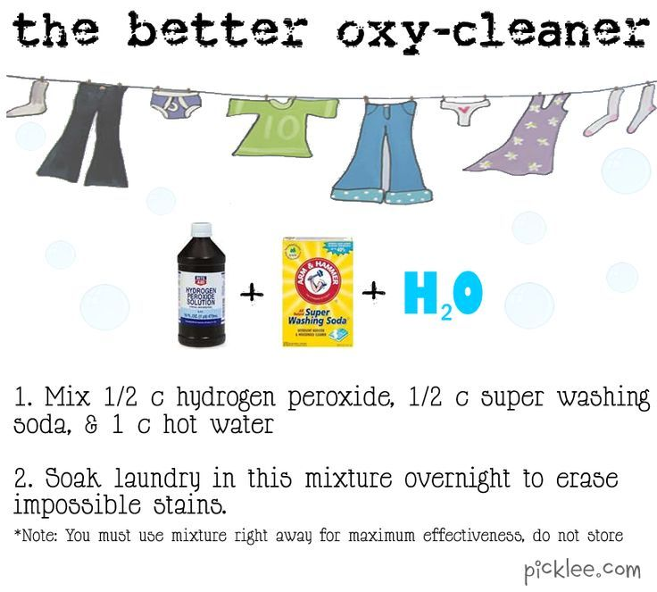 """DIY cleaning solutions, including miracle stain remover, oven cleaner, shower cleaner, """"better oxy cleaner,"""" wrinkle release spray, ink stain remover, carpet stain remover, dishwasher cleaner, and armpit stain remover! 