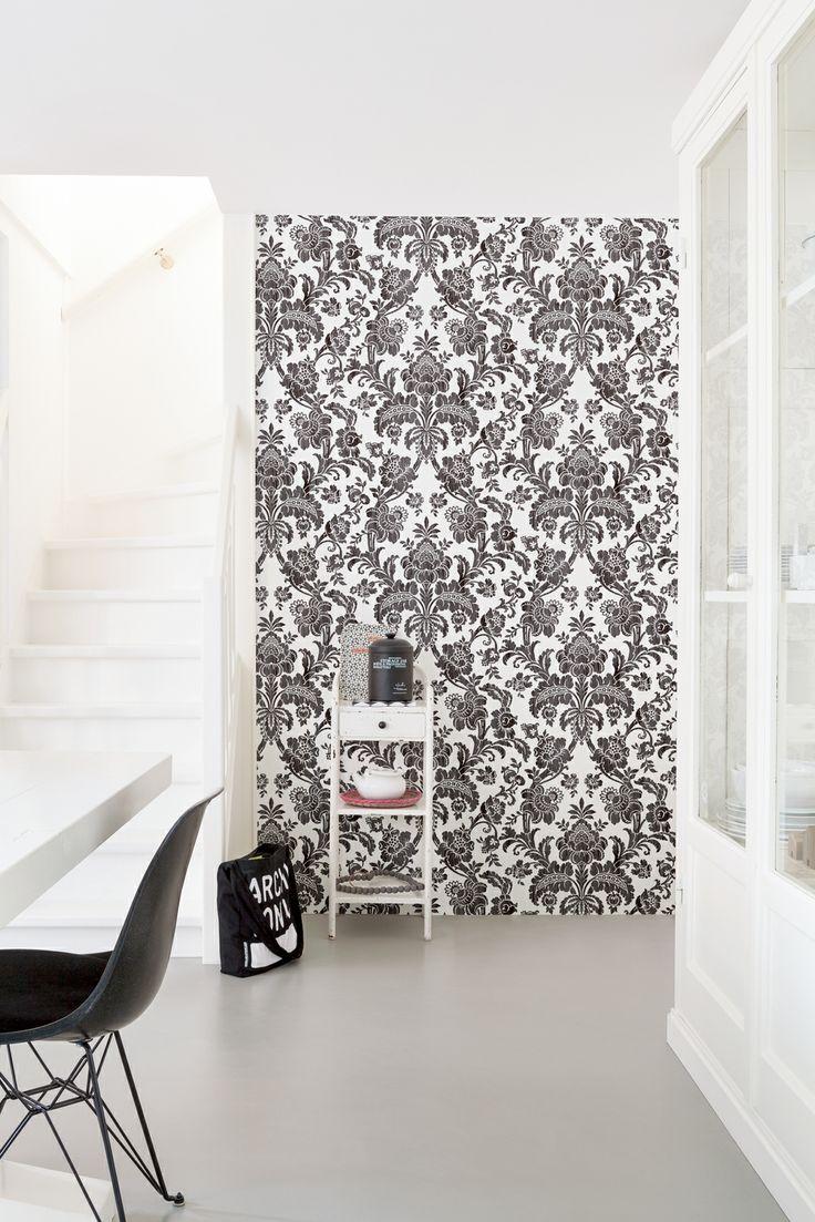 Black and White wallpaper/behang Bloomsbury - BN Wallcoverings