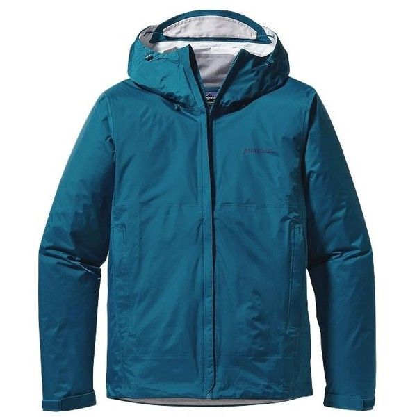 Patagonia Men's Torrentshell Jacket ($129) ❤ liked on Polyvore featuring men's fashion, men's clothing, men's outerwear, men's jackets, underwater blue, patagonia mens jacket, mens nylon jacket, mens waterproof jackets and mens jackets