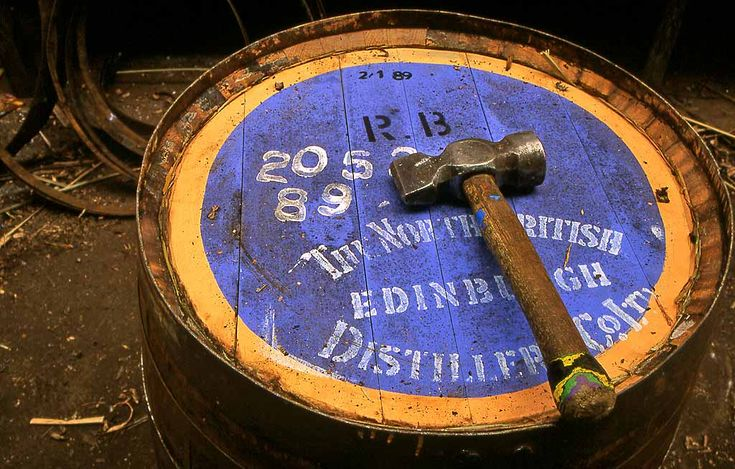 North British Distillery Cooperage, West Calder, West Lothian, Scotland  -  1995