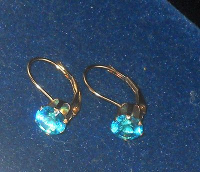#gold #10K #ebay 10K Yellow Gold Paraiba Ice Leverback Earrings 2.00ctw @eBay! http://r.ebay.com/WRoVRc