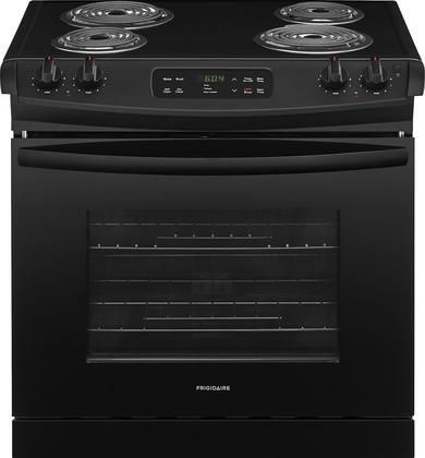 FFED3016TB 30 ADA Compliant Drop In Electric Range with 4.6 cu. ft. Capacity 4 Coil Elements Self-Clean Function 2 Racks and Auto Oven Shut-Off in Black
