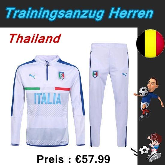 Brauch Neue Trainingsanzüge Fussball Herren Kits Italien Weiß Saison 2016 2017 Online Bestellen Shop