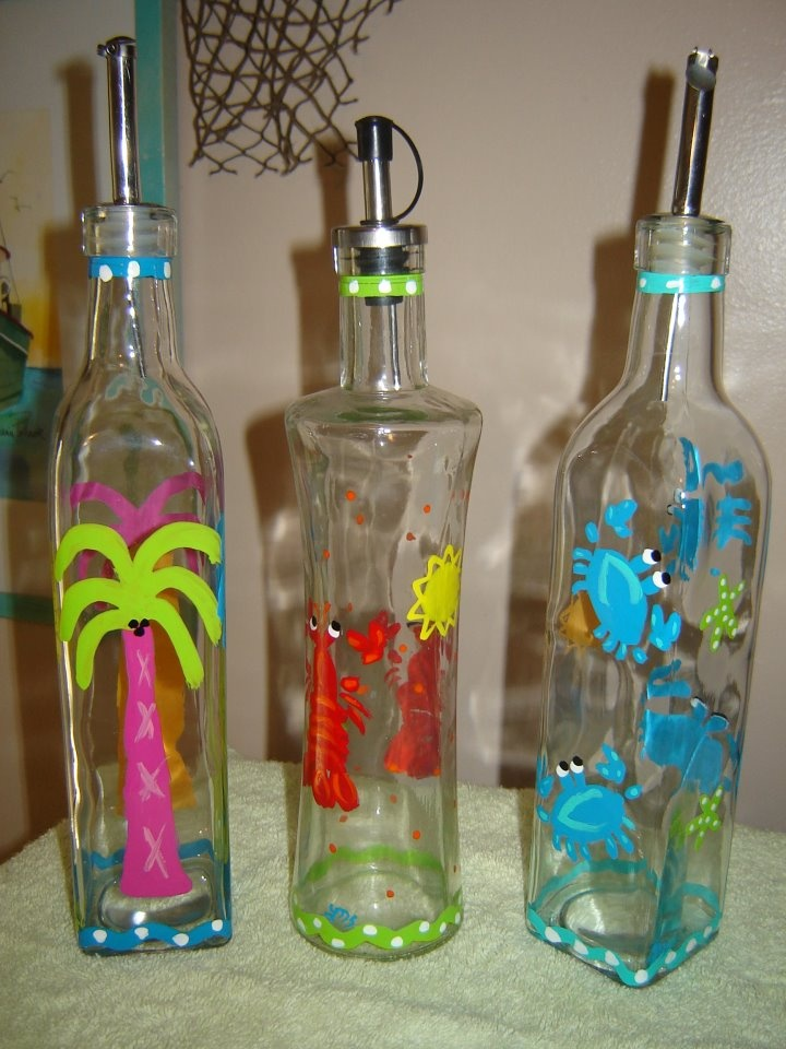 Hand painted glassware from CharlestonSC The Surfing