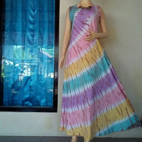Dress Tiedye Rainbow from BulBul Hijaz.... WORLDWIDE SHIPPING  #tiedye #bulbulhijaz