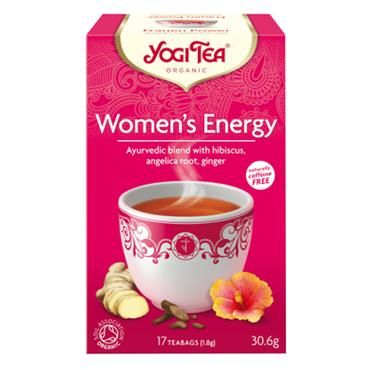 Yogi Tea Organic Women's Energy Teabags - 15 Teabags   Nourish Health & Beauty Store  A fresh and fruity blend of hibiscus, mint and liquorice, Women?s Energy is a natural way to help refresh the mind and body when experiencing daily fatigue. Enjoy a cup of this delicious infusion any time of day to feel healthy, radiant and energised.